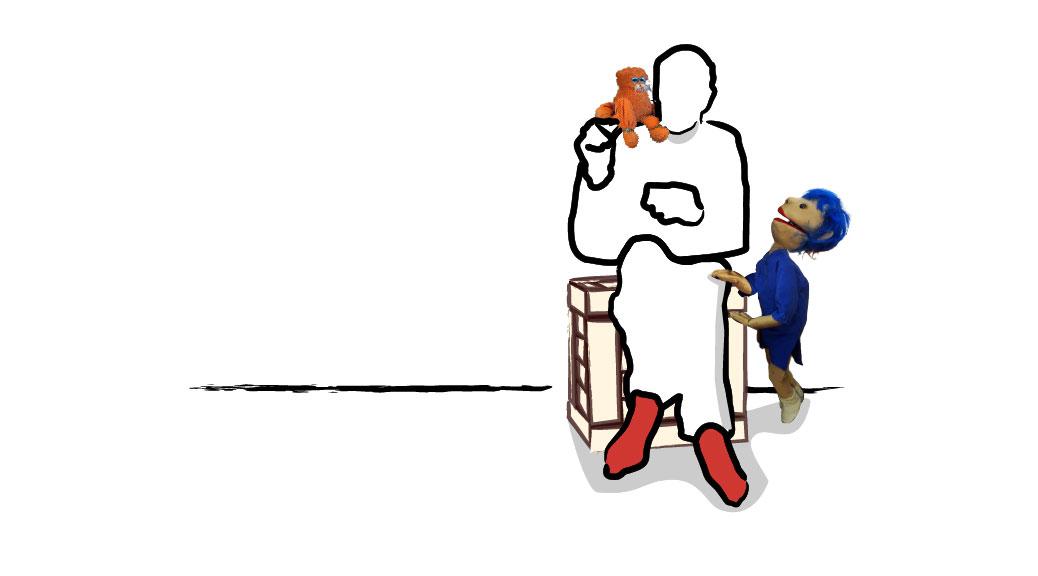 Theater Leeuwenhart - illustratie Jouke met Trui en Nero