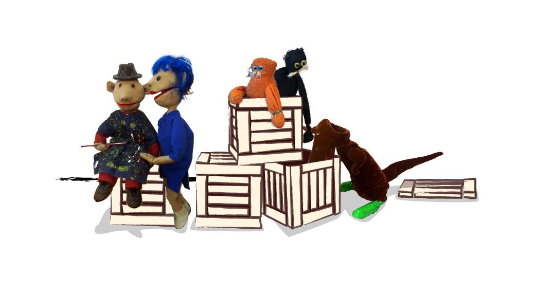 Theater Leeuwenhart - illustratie alle poppen